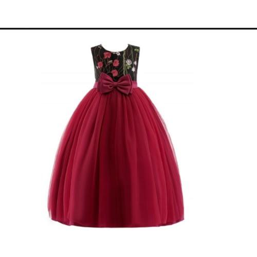 Christmas Dress.Baby Girl S Flowery Christmas Dress Red