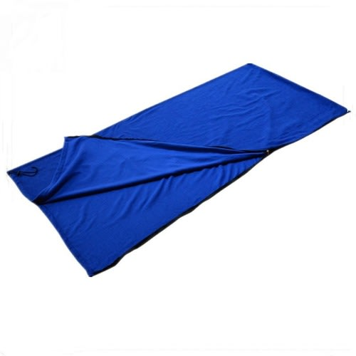 Fleece Sleeping Bag For Camping Hiking Travel - Blue