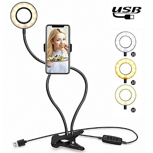 Selfie Ring Light With Mobile Phone Holder