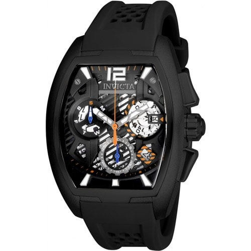 26887 Men's S1 Rally Quartz Multifunction Black Dial Watch