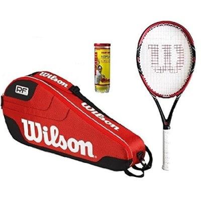 Wilson Tennis Racket + Tennis Bag + 3 Dunlop Balls