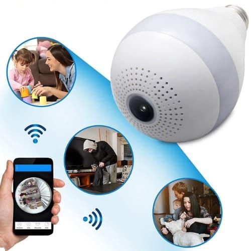 Wireless 360 Hidden Camera Bulb