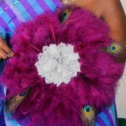 Wedding Handfan - Magenta