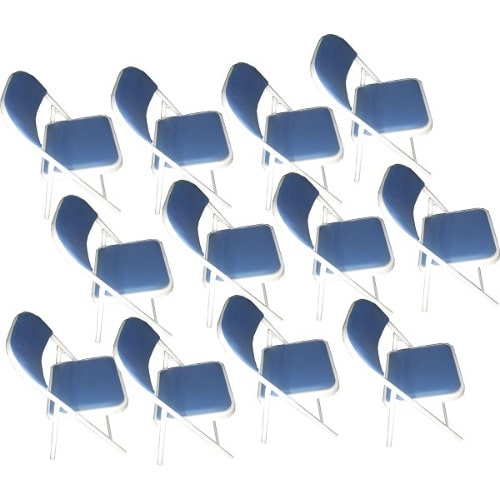 12 Pieces Of Leather Foldable Metal Legs And Folding Banguet Chair