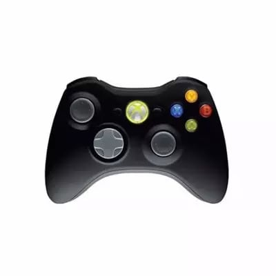 Wireless Xbox 360 Game Pad Controller - Black