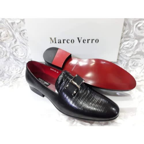 8f5b90eb3b9 Marco Verro Bow Design Italian Leather Loafer + A Pair Of Free Sock ...