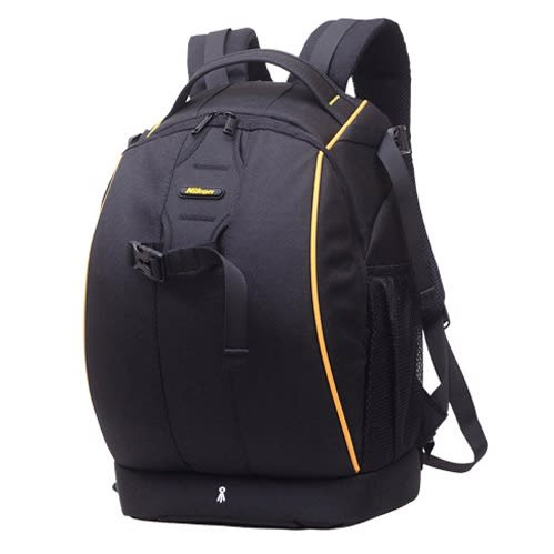 Waterproof/Anti-shock Large Backpack Dslr Camera Bag - Black