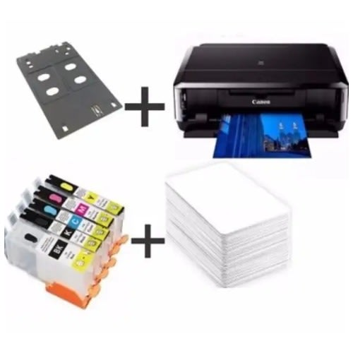 ID Card Pixma Ip7240 Wifi Colour Printer + Id Card Tray + Pvc Id Card + Refill Cartridge