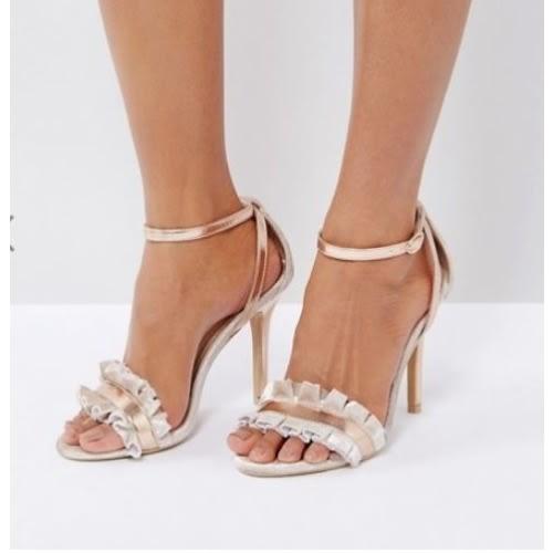 47d0a5e1241 Women's Suede Fringe Heeled Sandals - Nude