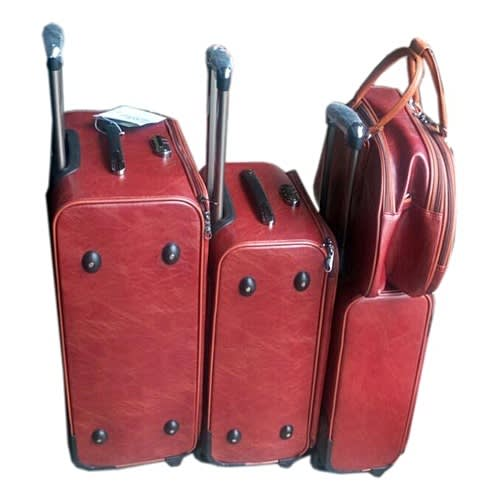 Traveling Leather Bag Set