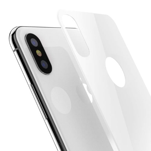 huge selection of 9de18 6ae34 Apple iPhone X Back Glass Protector - White