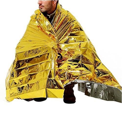 Emergency Thermal Blankets - Gold-25 Pack