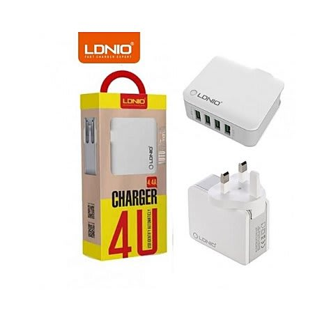 7e7b54cf43e LDNIO 4-USB Ports Intelligent Rapid Charger With Auto-ID Technology ...
