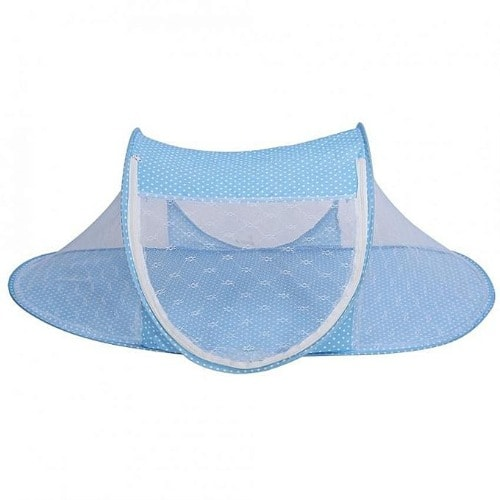 Baby Infant Foldable Crib Bed Cot Portable Travel Netting Canopy