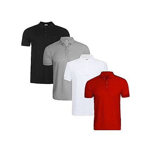 4437b173 Men's Polo T-shirts- Grey, White, Black & Red | Konga Online Shopping