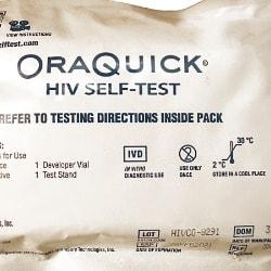 Oraquick Hiv Self-test Kit.