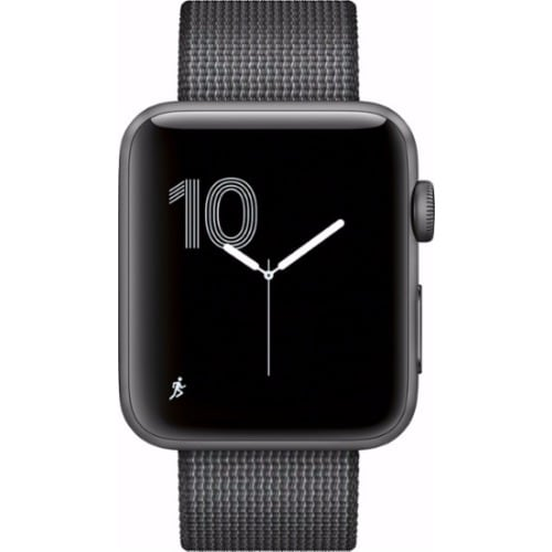 sports shoes 1aab0 cf309 Watch Series 2 - 42mm - Space Gray - Aluminum Case - Black Woven Nylon Band