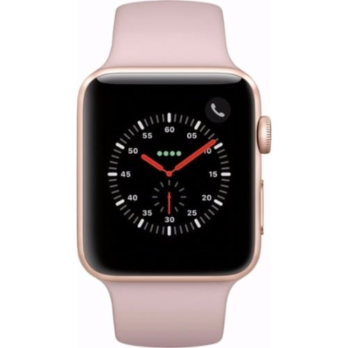 newest collection 97e6f 3e640 Watch Series 3 (GPS + Cellular) - 42mm Gold Aluminum Case - Pink Sand Sport  Band