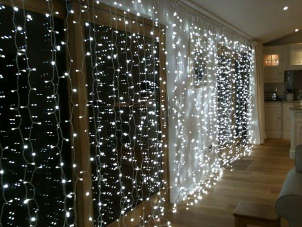 White Led Curtain Light Garlands Led String Christmas Light