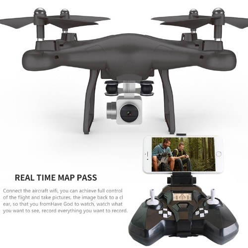 WiFi Drone With HD Camera Quadcopter Remote Control - Multicolor