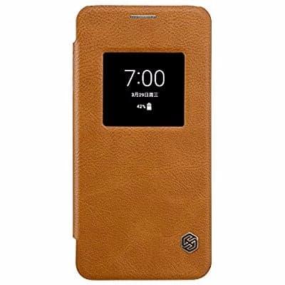 timeless design 0d389 6d05a Window View Smart Flip Case For LG G6 - Brown