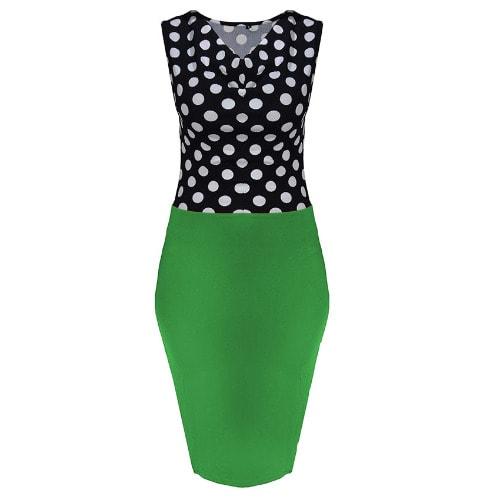 /W/o/Woman-Polka-Dot-Sleeveless-Elegant-Office-Dress-With-Belt---Green-4150333_1.jpg