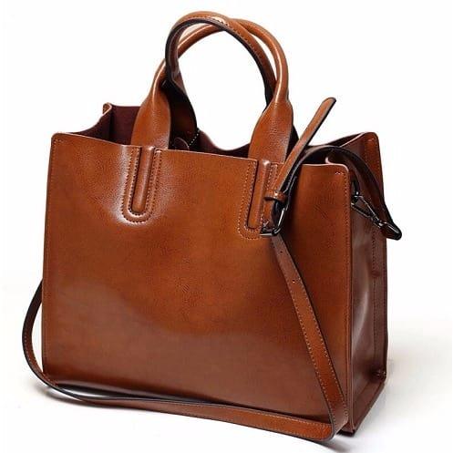 96e4942ac4  W o Women-Leather-Handbag---Brown-7053538