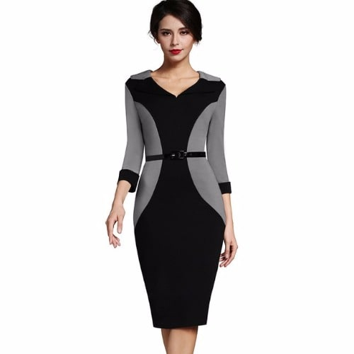 /W/o/Women-s-Bodycon-Turn-Down-Sleeve-Dress-With-Belt---Grey-Black-7806736_1.jpg