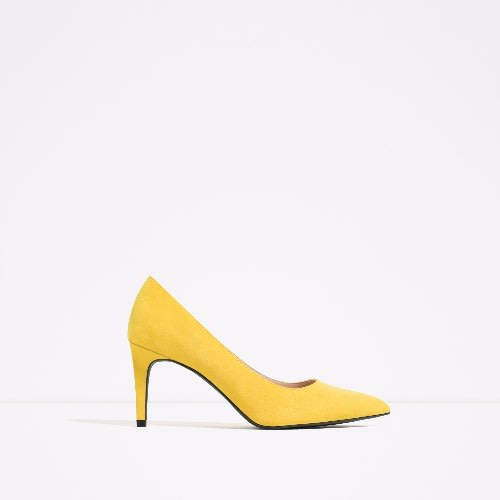 911e3f615da Zara Women s Court Shoe - Yellow