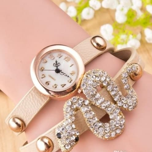 Women's Diamond Snake Shaped Quartz Watch