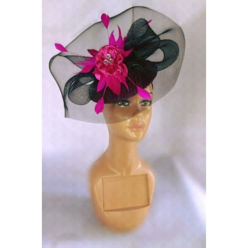 Women s Fascinator - Black   Pink  c8541eaa583