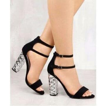 Women's Heeled Sandal with Transparent