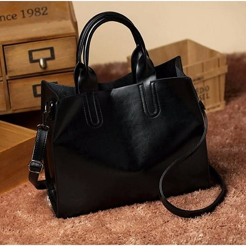 42d8092afe Famous Amos Women s Leather Handbag - Black