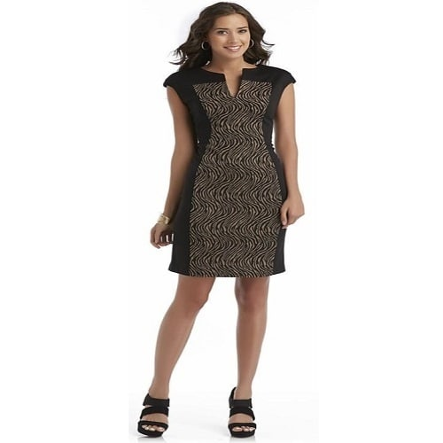 c2e9ed6fb68 Women's Short-Sleeve Sheath Dress - Zebra Print | Konga Online Shopping