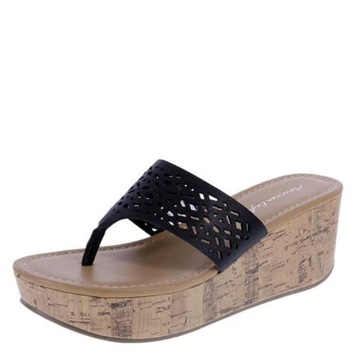 25ec3e7056c Women's Zimone Mid-Wedge Sandal-Black