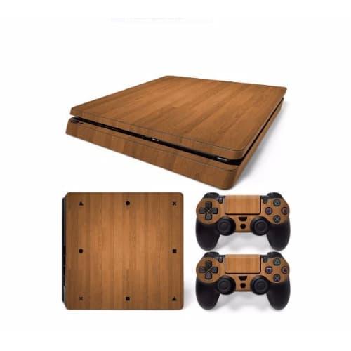 /W/o/Wood-Grain-Skin-Sticker-Protector-Waterproof-Game-Decals-for-PS4-Slim-7948156.jpg