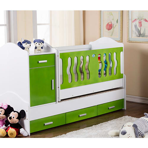 Wooden Baby Crib With Removable Drawers