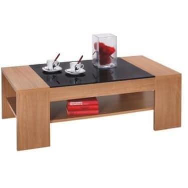Charmant Wooden Center Table With Acrylic Glass Top