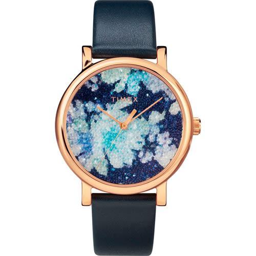 3002a6b41 Timex T2r664 Women's Crystal Bloom Swarovski Floral Dial Watch ...