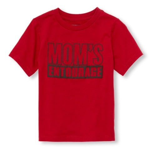 4dc5494c The Childrens Place Boy's Short Sleeve Mom's Entourage Graphic T ...