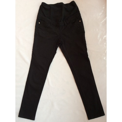 Overbump Chinos Black Maternity Trousers