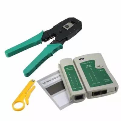 Portable Lan Network Tool Kit - Rj45 Rj11 Rj12