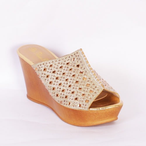 6c2cc4a77277 Sequence Wedge Slippers - Gold