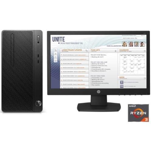Desktop Pro A Microtower PC, Amd-ryzen 3-2200, 4GB Ddr4 RAM,...