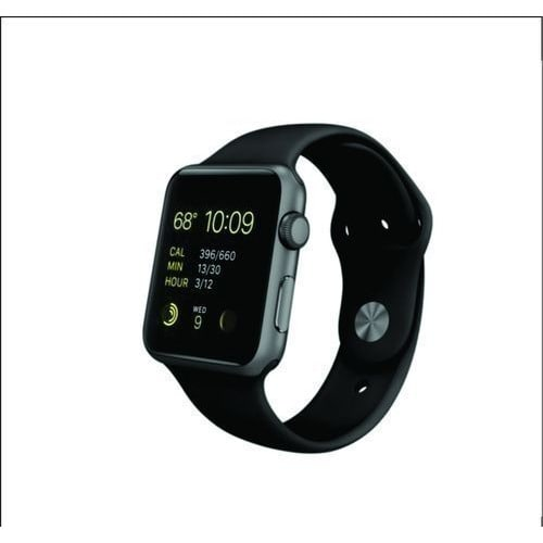 iWatch Series 1 38mm Smartwatch - Space Gray Aluminum Case - Black Sport Band