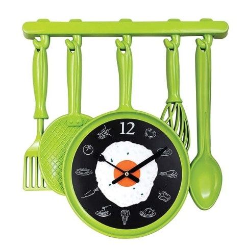Fantastic Kitchen Cooker Wall Clock Green Home Interior And Landscaping Transignezvosmurscom