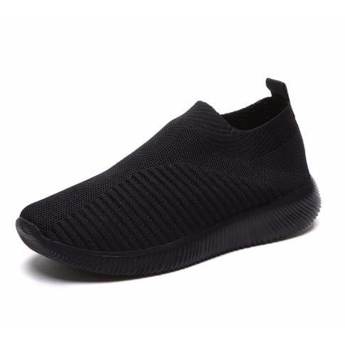 Ladies Casual Sneakers - Black   Konga