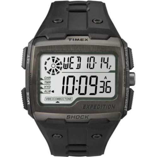 67b34a2c6 Timex Men's Expedition Digital Shock Chronograph Black Resin Watch -  Tw4b02500