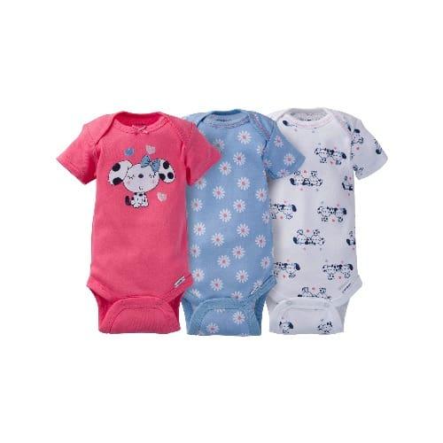 dd3a5c9bc Gerber Newborn Baby Girl Assorted Short Sleeve Onesies Bodysuit 3- Pack
