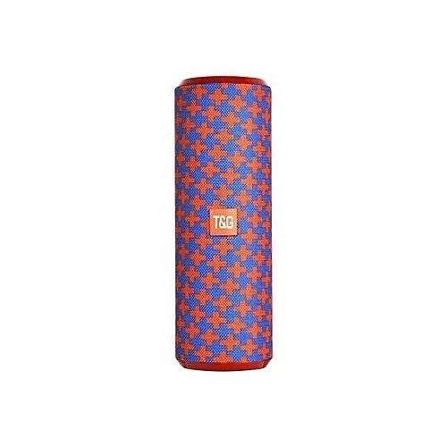 Portable Wireless Bluetooth Soundbar Sub Woofer Speaker- Blue & Red